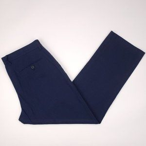 J Crew Blue Flat Front Pants 34x29 Mens Bedford Re